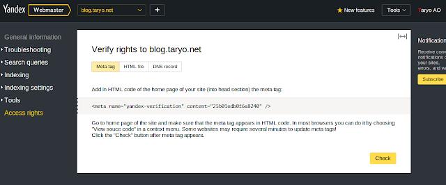 Cara Ampuh menaikan Trafik Blog dan Website ala Yandex Webmaster Tools