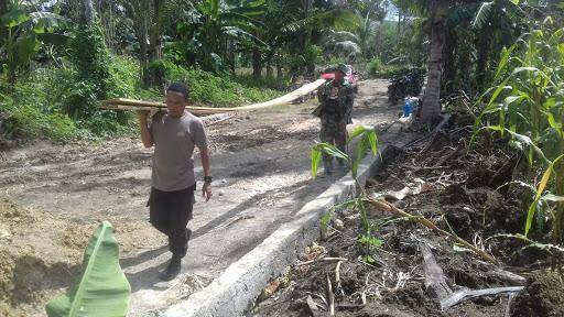 Sinergitas TNI POLRI Sukseskan Program TMMD ke 104 Kodim 1407/Bone