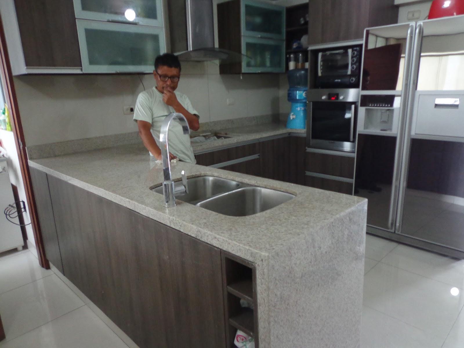 Cubiertas cocina granito marmol cuarzo dekton lima for Granito vs marmol