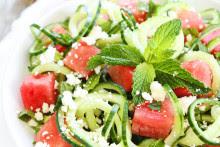 Cuсumbеr Nооdlе, Wаtеrmеlоn, and Fеtа Salad