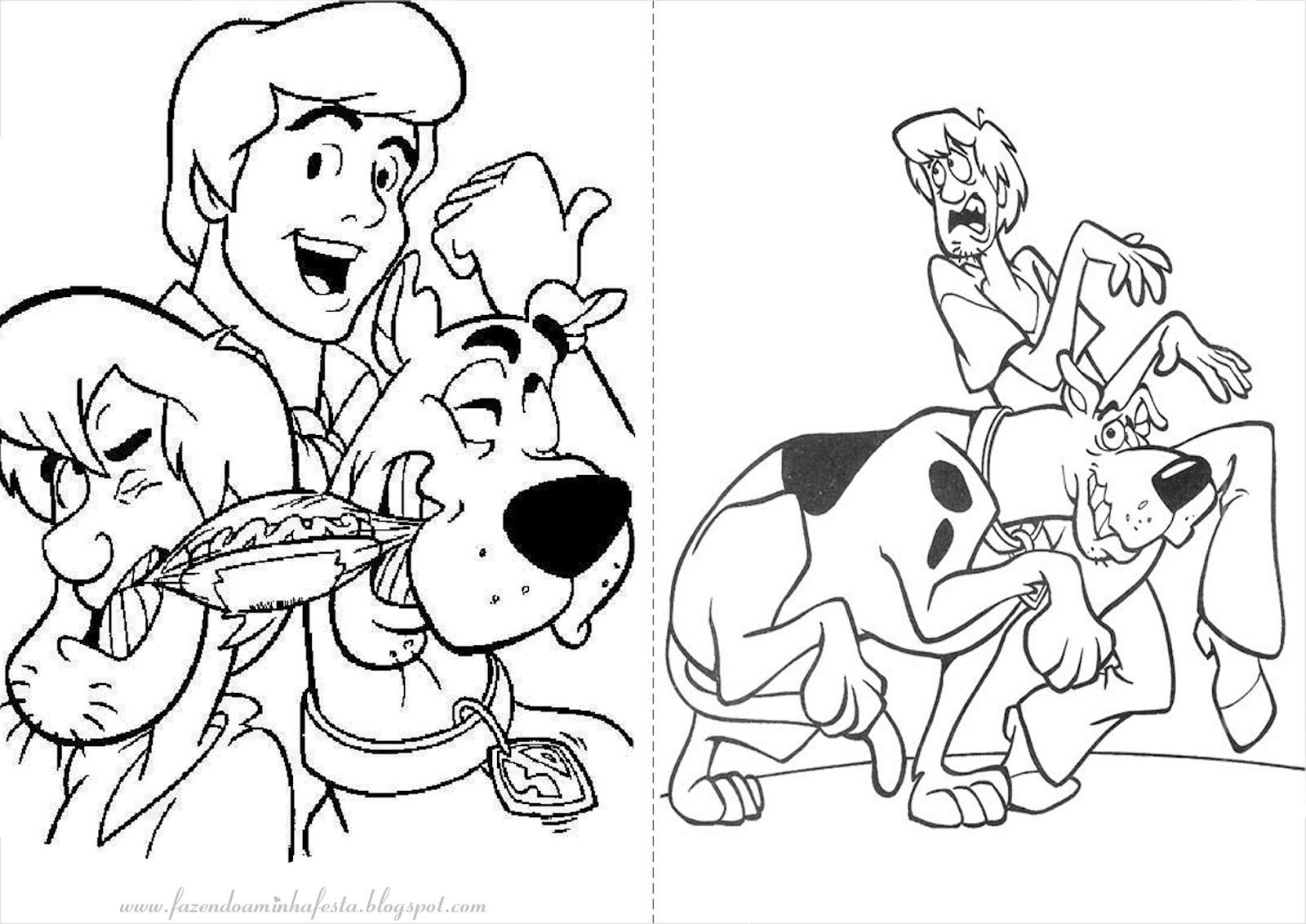 Fazendo A Minha Festa Para Colorir Scooby Doo