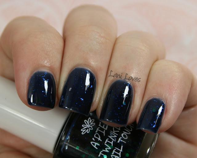 A'Pieu Twinkle Nail Touch BL02 nail polish swatch