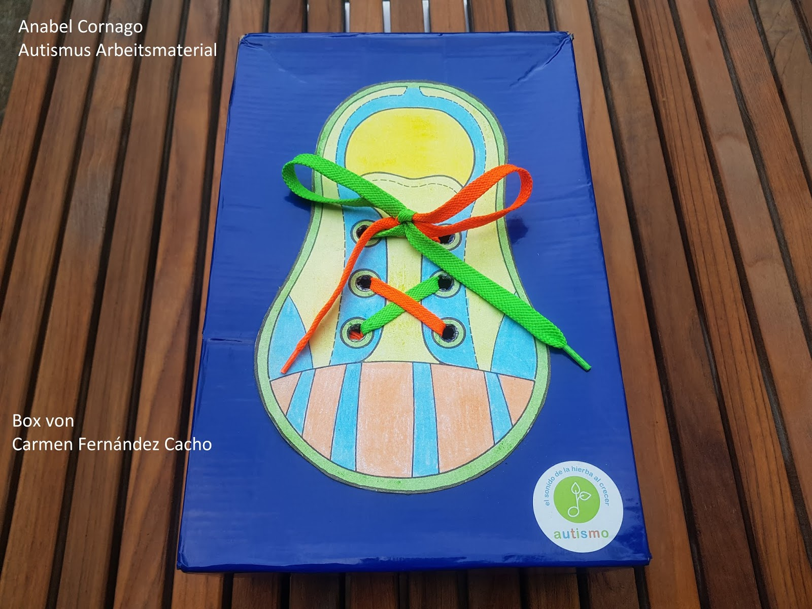 Autismus Arbeitsmaterial Schuhe Binden Lernen 2
