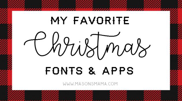 Hall Around Texas Christmas Fonts and Apps