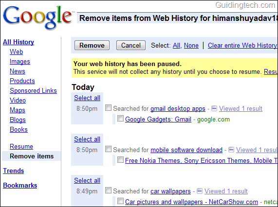 Guide To Delete Recent Search History In Internet Browsers