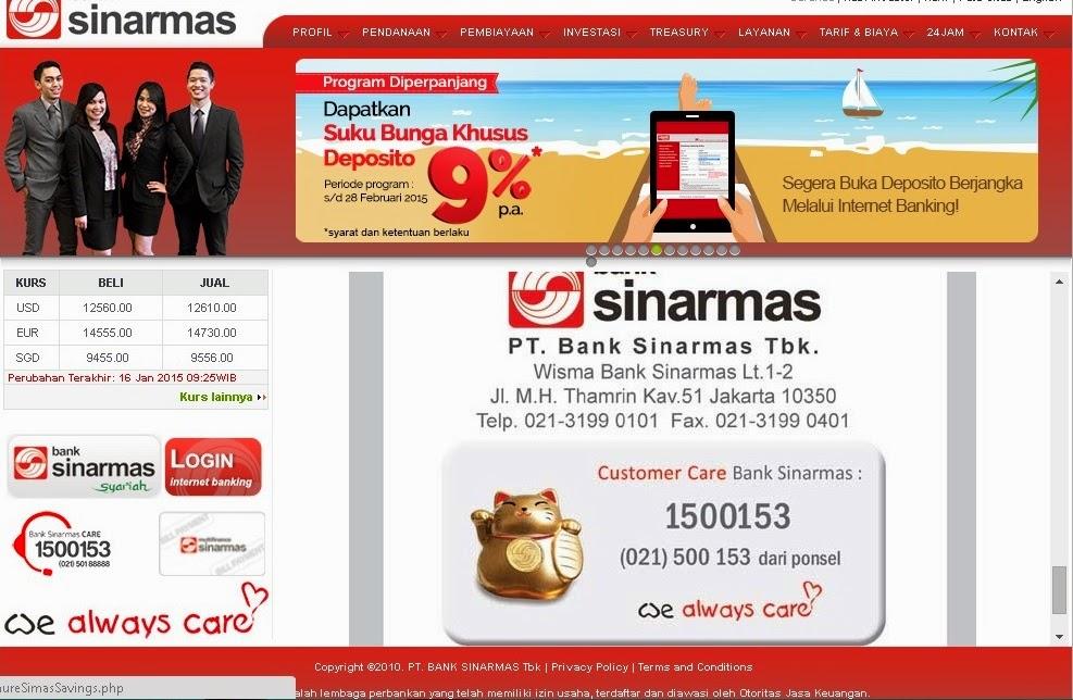 cara membuat rekening bank di sinarmas