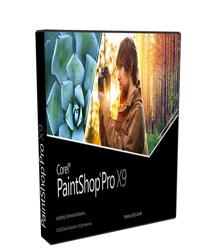 Corel PaintShop Pro X9 19.1.0.29 poster box cover