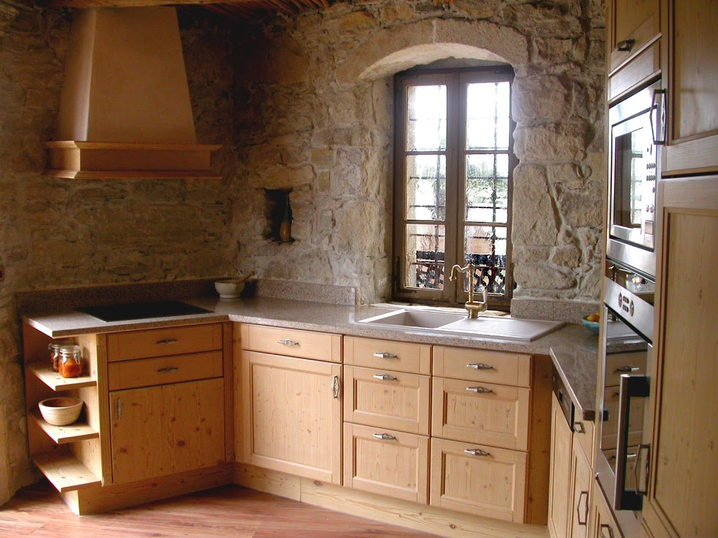 Kitchen HD Wallpapers: Rustic Pine Kitchen Cabinets Wallpapers