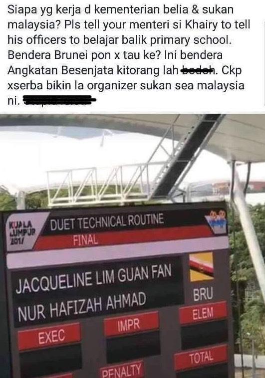 Malaysia Salah Papar Bendera Brunei Pula