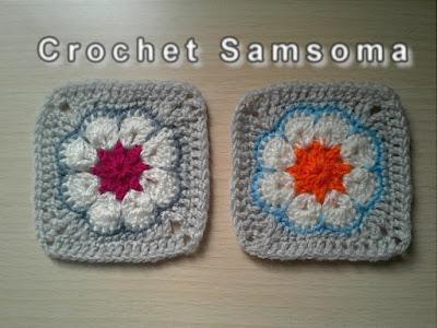 كروشيه مربع الوردة الافريقية  Crochet African Flower Square| crochet