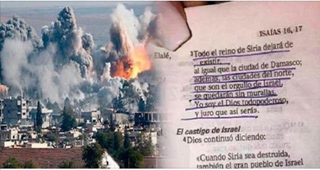 Image result for ESTAMOS EN LOS FINALES ESTA PROFECIA DE LA BIBLIA SOBRE SIRIA HA DEJADO EL MUNDO EN SHOCK