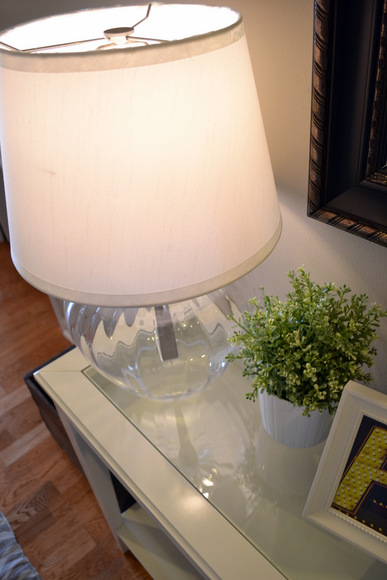 Table lamp with clear base Ikea