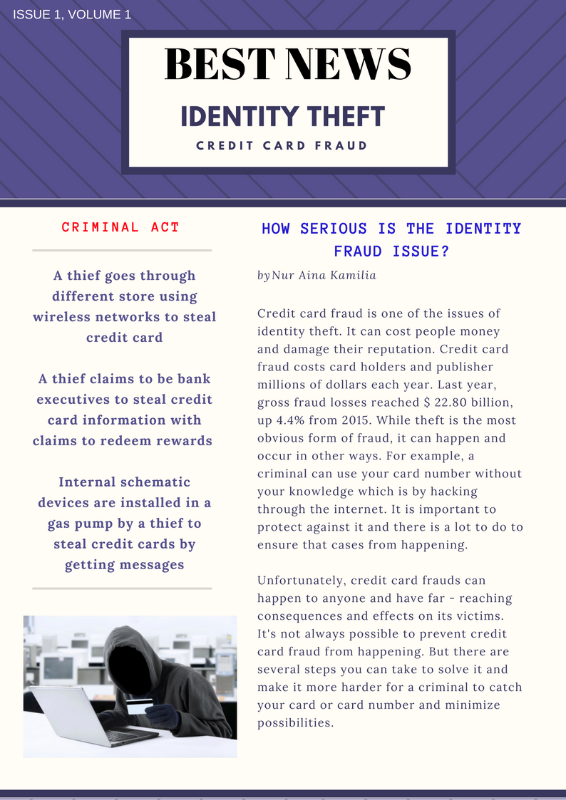 the global issue of identity theft Identity theft is the deliberate use of someone else's identity coined the term medical identity theft and released the first major report about this issue in.