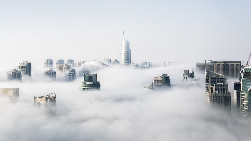 Dubai Covered in Fog HD