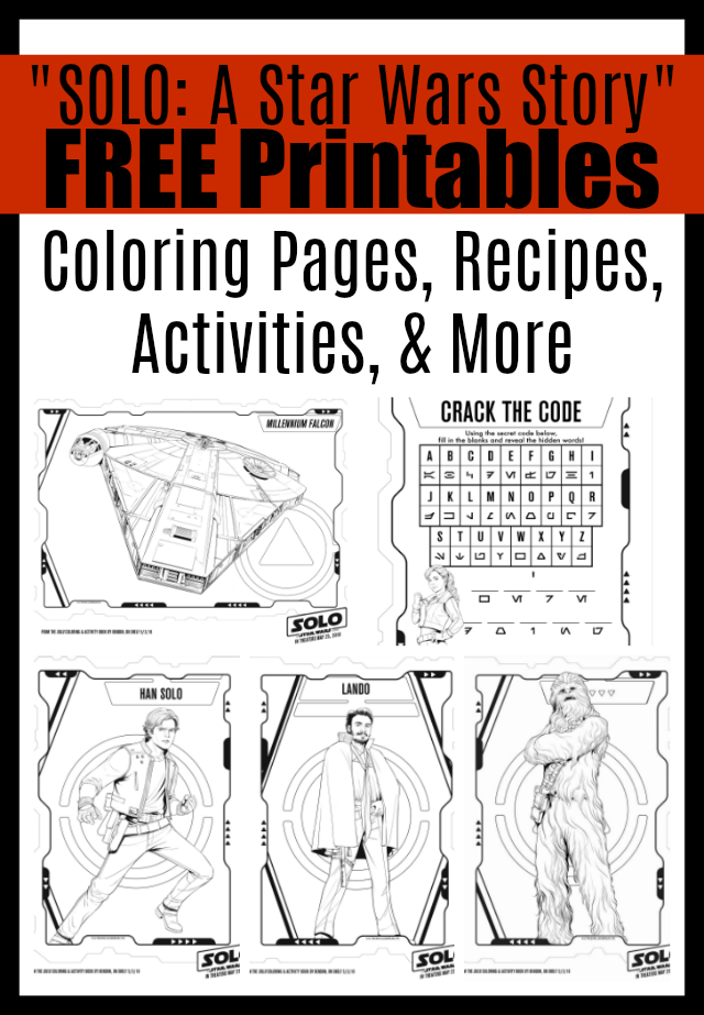 image about Star Wars Printable Activities referred to as SOLO: A Star Wars Tale\