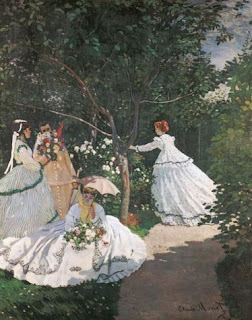 Trois femmes au jardin - Claude Monet