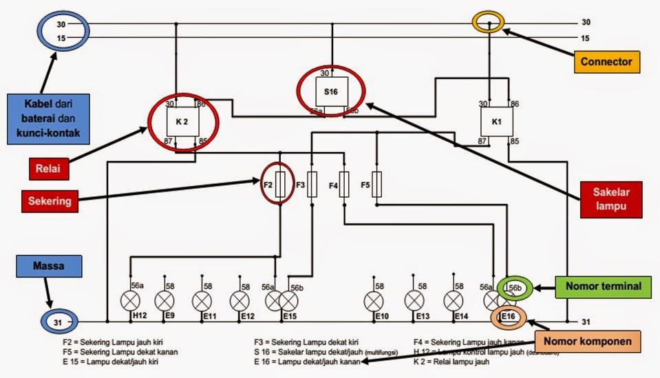 Wiring Diagram Lampu Kepala Avanza
