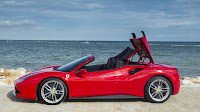 2016 New Ferrari 488 Spider show performance red color edition