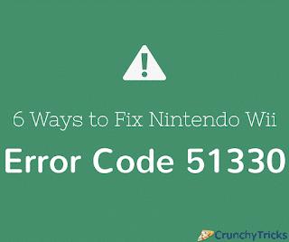 Solve Nintendo Wii Error Code 51330