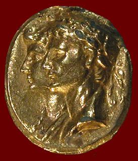 Augusto e Livia (gemma dorata del I sec.)