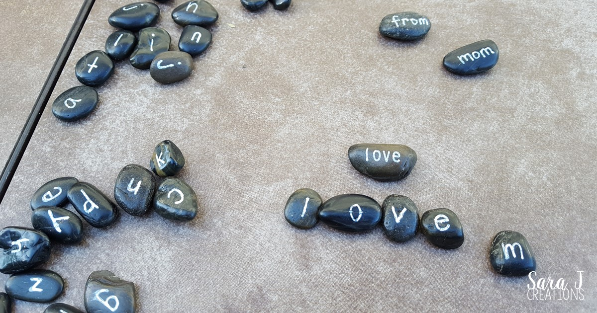 Sight word rocks are an inexpensive activity to practice sight words and the alphabet.  Such a great hands on activity for preschool, kindergarten and even first or second grade.