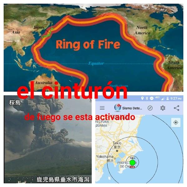 3 Sismos En Menos De 20 Minutos En Japón Y Una Erupcion volcánica.