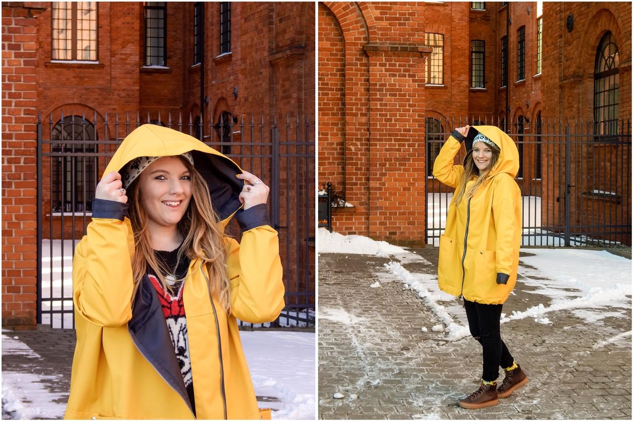 8 obszerny szeroki płaszcz oversize z ogromnym dużym kapturem polska moda marka agagu stylowe kurtki na wiosnę płaszcze