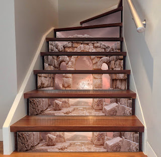 8 Fascinating 3D Stair Risers Decoration Ideas