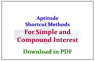 Aptitude Shortcuts Method for Simple Interest and Compound Interest Related Problems