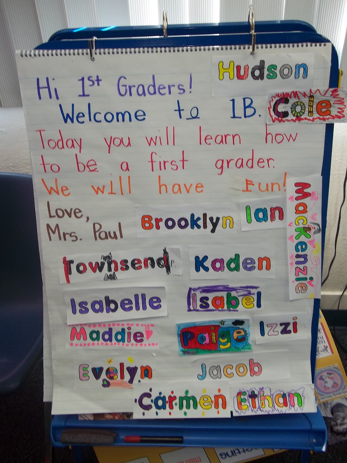 Sarah S First Grade Snippets First Day Last Year