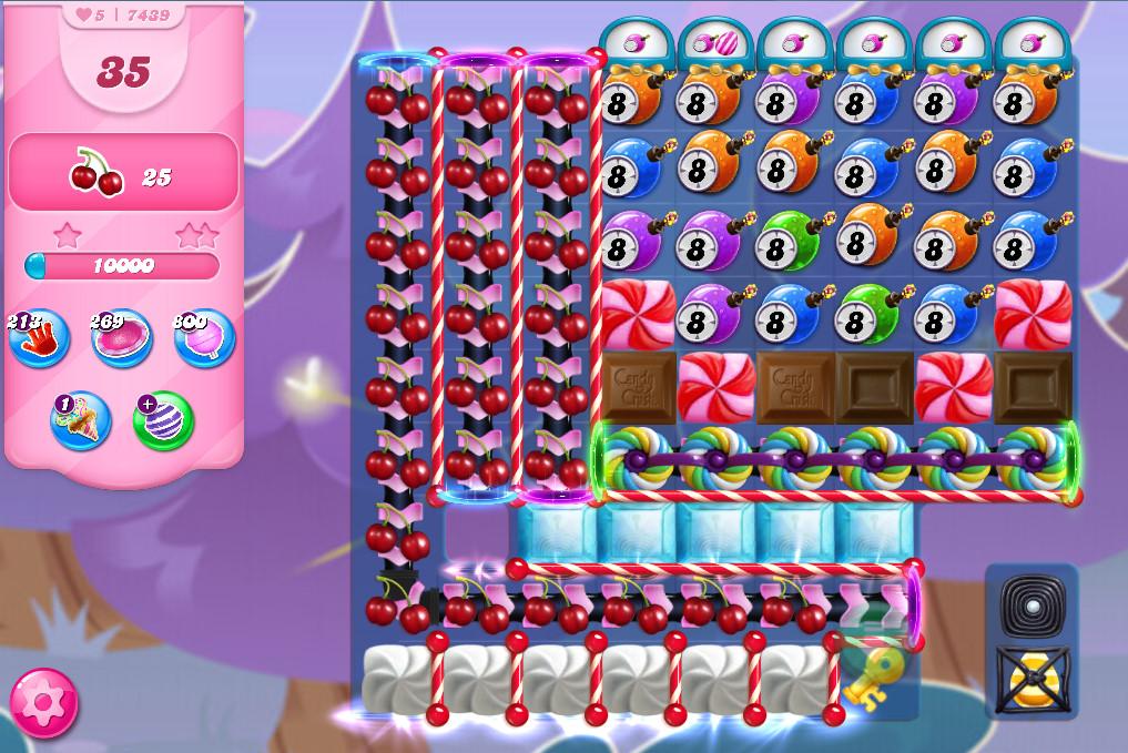 Candy Crush Saga level 7439