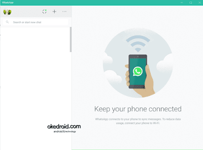 Tampilan Aplikasi WhatsApp untuk PC di Windows