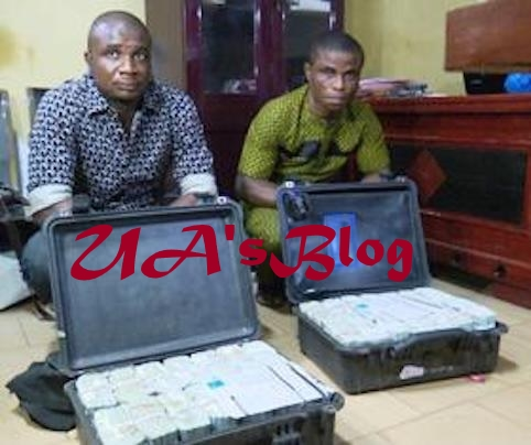 JUST IN: FG captures 2 men with $2.8 million cash at Enugu airport (PHOTO)