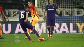 Serie A Fiorentina Roma 1-0 video highlights