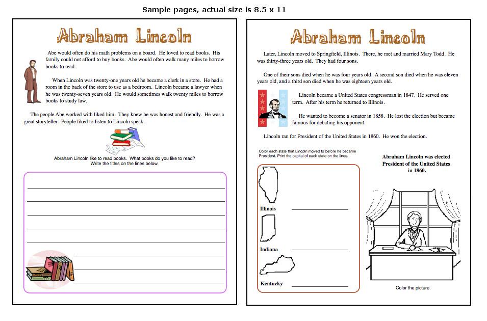 Abraham Lincoln Unit Study President 39 S Day