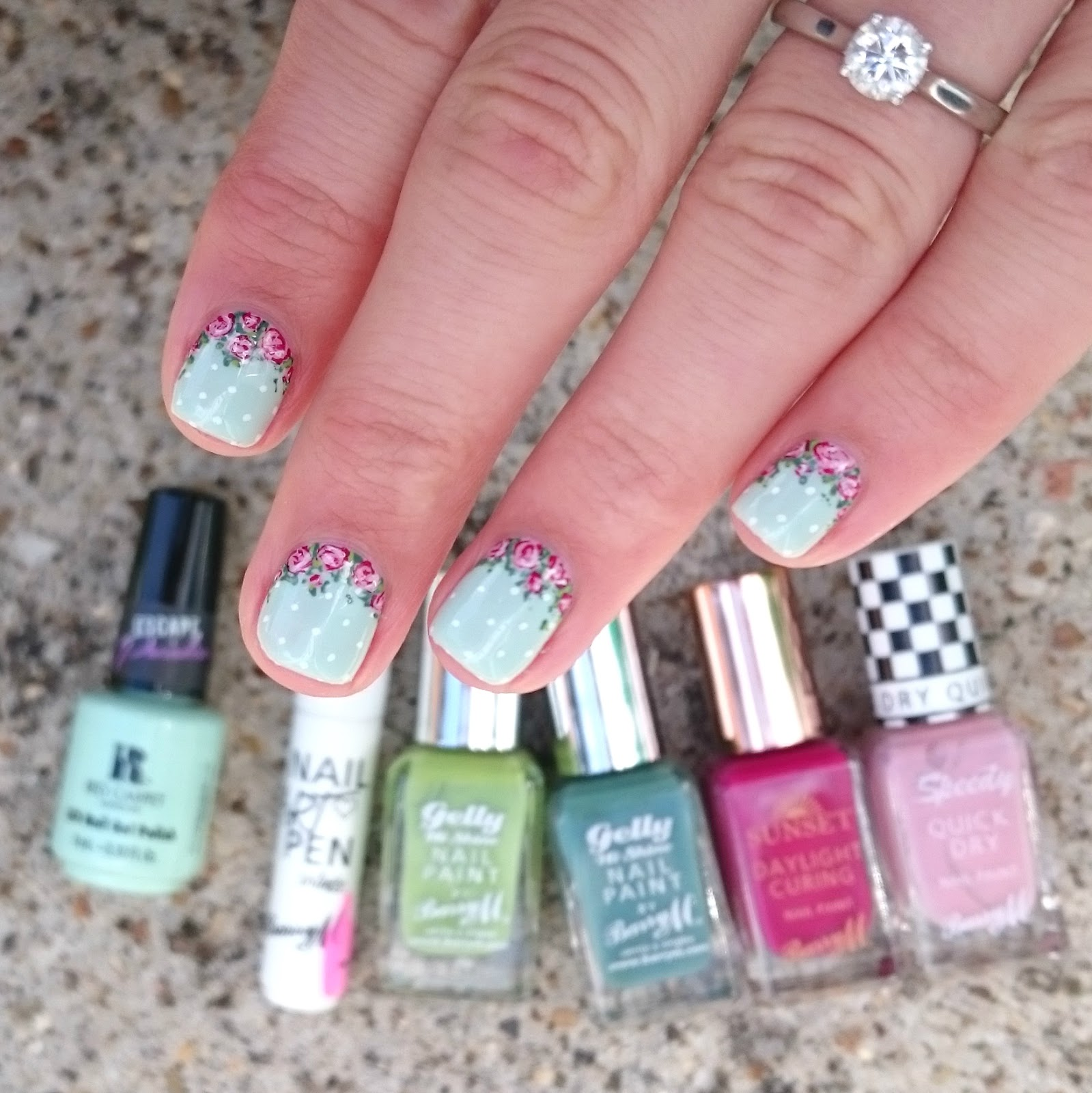 Dahlia Nails Florals For A French Wedding