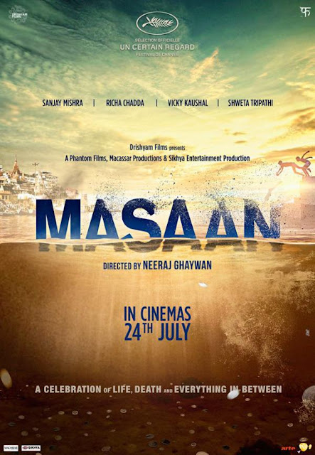Masaan, Movie Poster, Directed by Neeraj Ghaywan