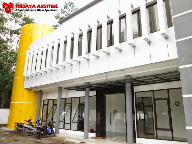 Aluminium Composite Panel, KANOPY KACA, LETTER GALVANIS, Pintu & Jendela Aluminim, Pintu Kaca Frameles, Proyek Malang, Trijaya Aluminium,