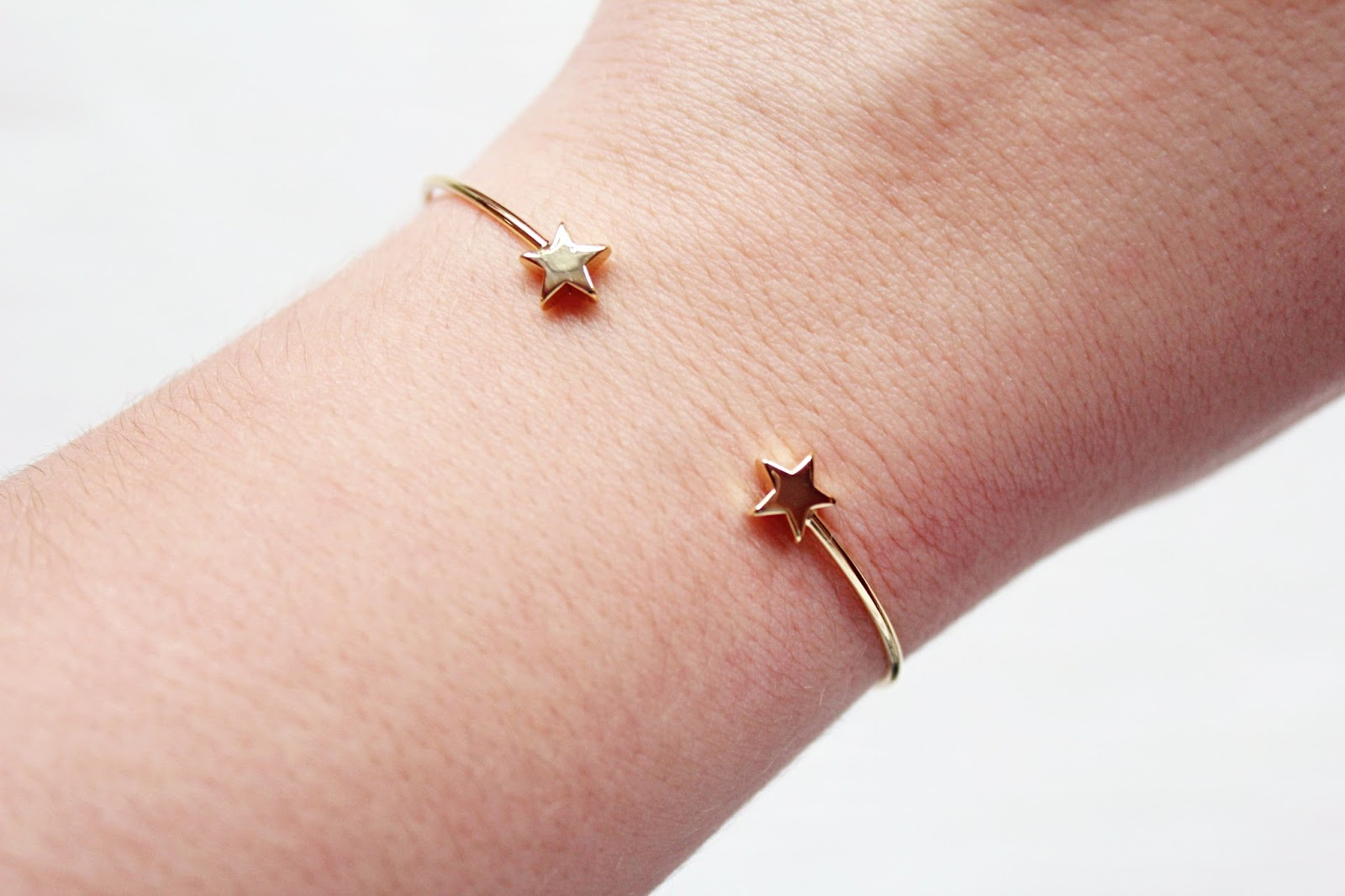 Orelia Open Star Bangle