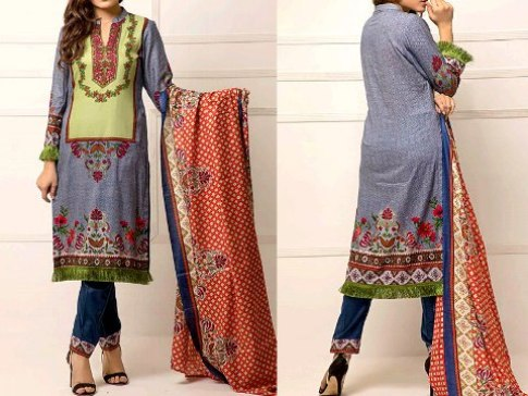 ZS Textile RangReza Lawn 2019 with Lawn Dupatta – Price:Rs.1395