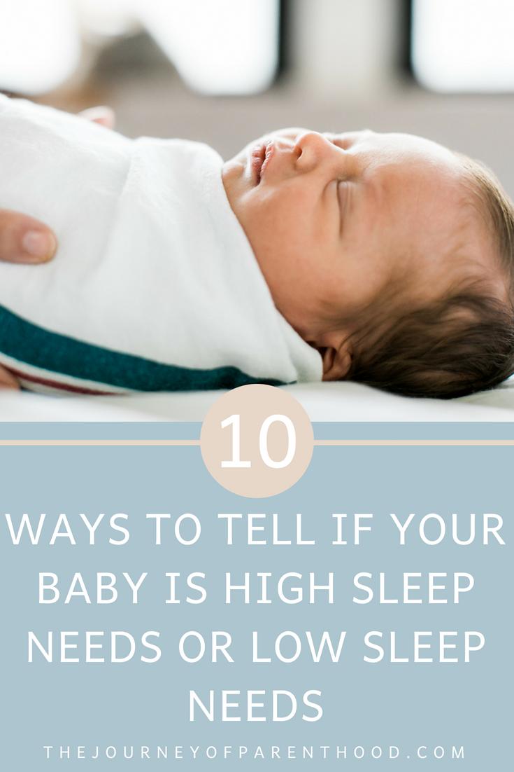 low sleep needs baby high sleep needs baby