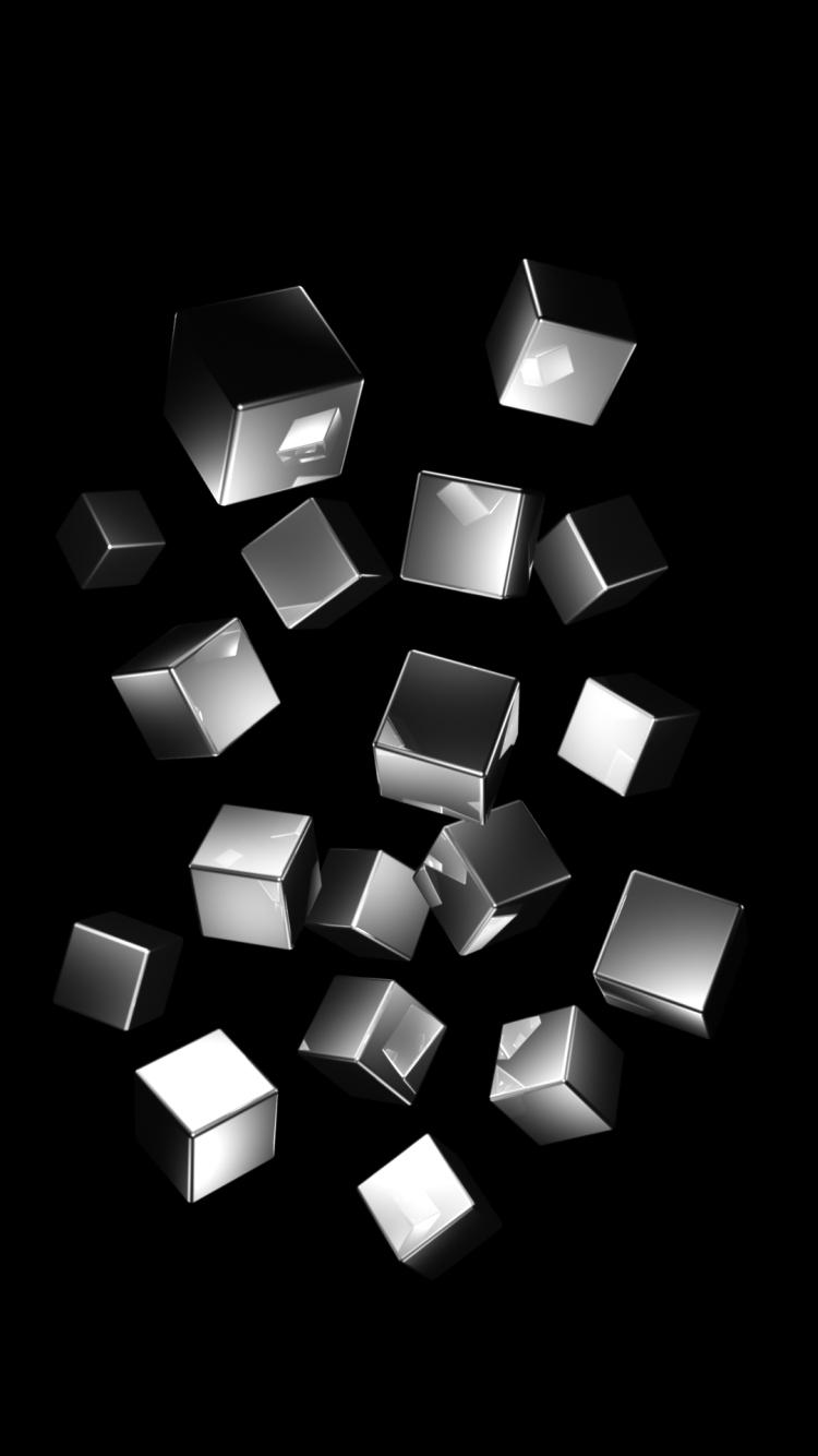Iphone7 Iphone6 壁紙box メタルキューブの壁紙