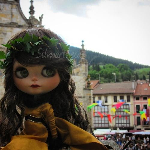 Caty en el mercado medieval - Balmaseda