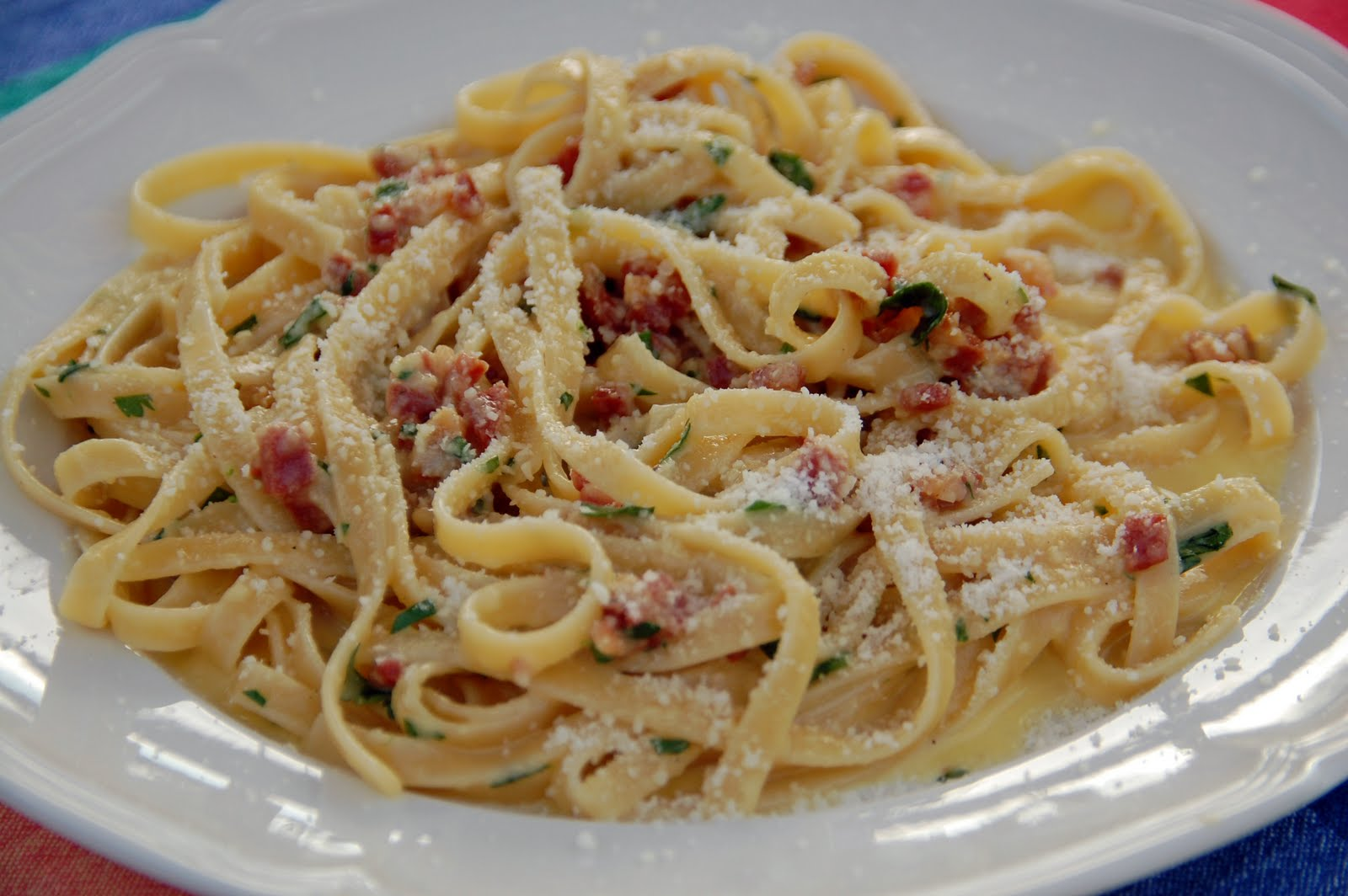 Southern Lady's Recipes: Pasta alla Carbonara