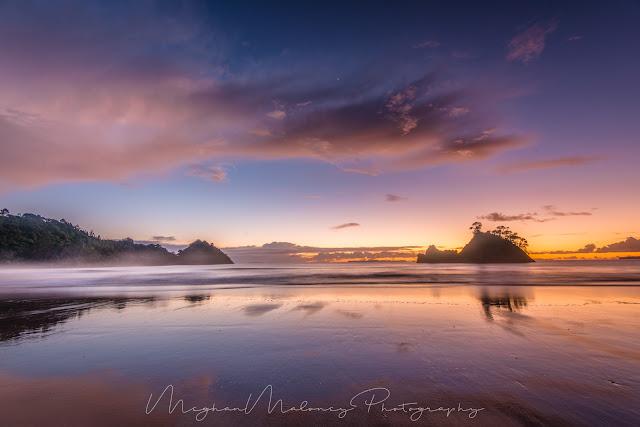 dawn whangapoua beach