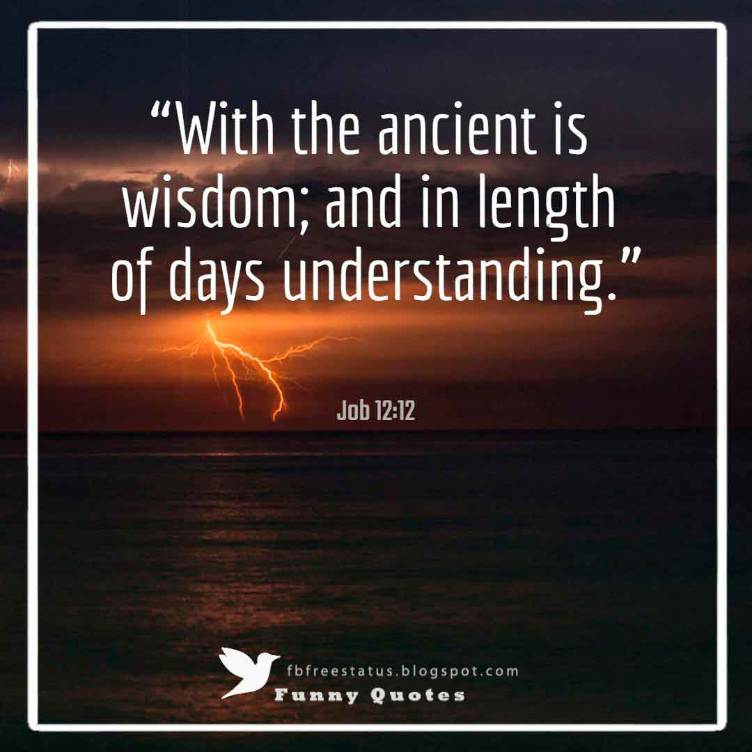 """With the ancient is wisdom; and in length of days understanding.""― Job 12:12"
