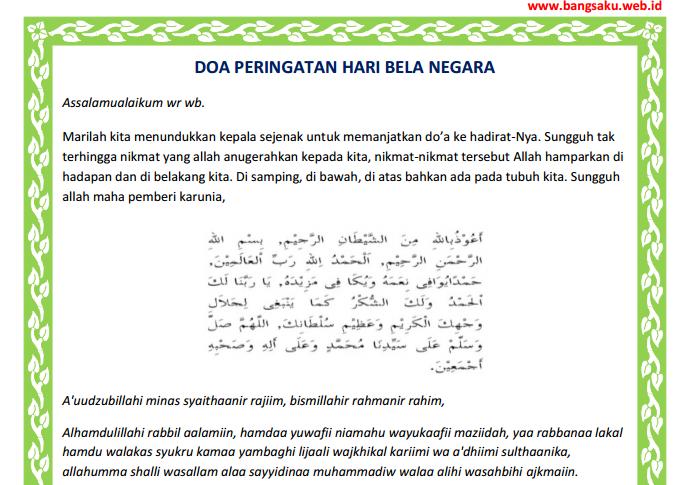 Teks Doa Upacara Peringatan Hari Pendidikan Nasional ...