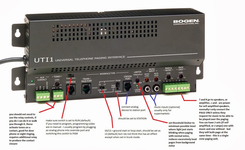 bogen paging system wiring diagram rabbit heart t725 amplifier