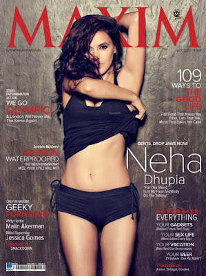 Neha Dhupia Sizzling Photo Shoot for Maxim India-July 2012