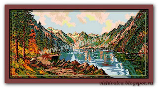 "Download embroidery scheme Rogoblen 6.13 ""Lac montan"""
